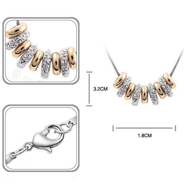necklace with swarovski elements