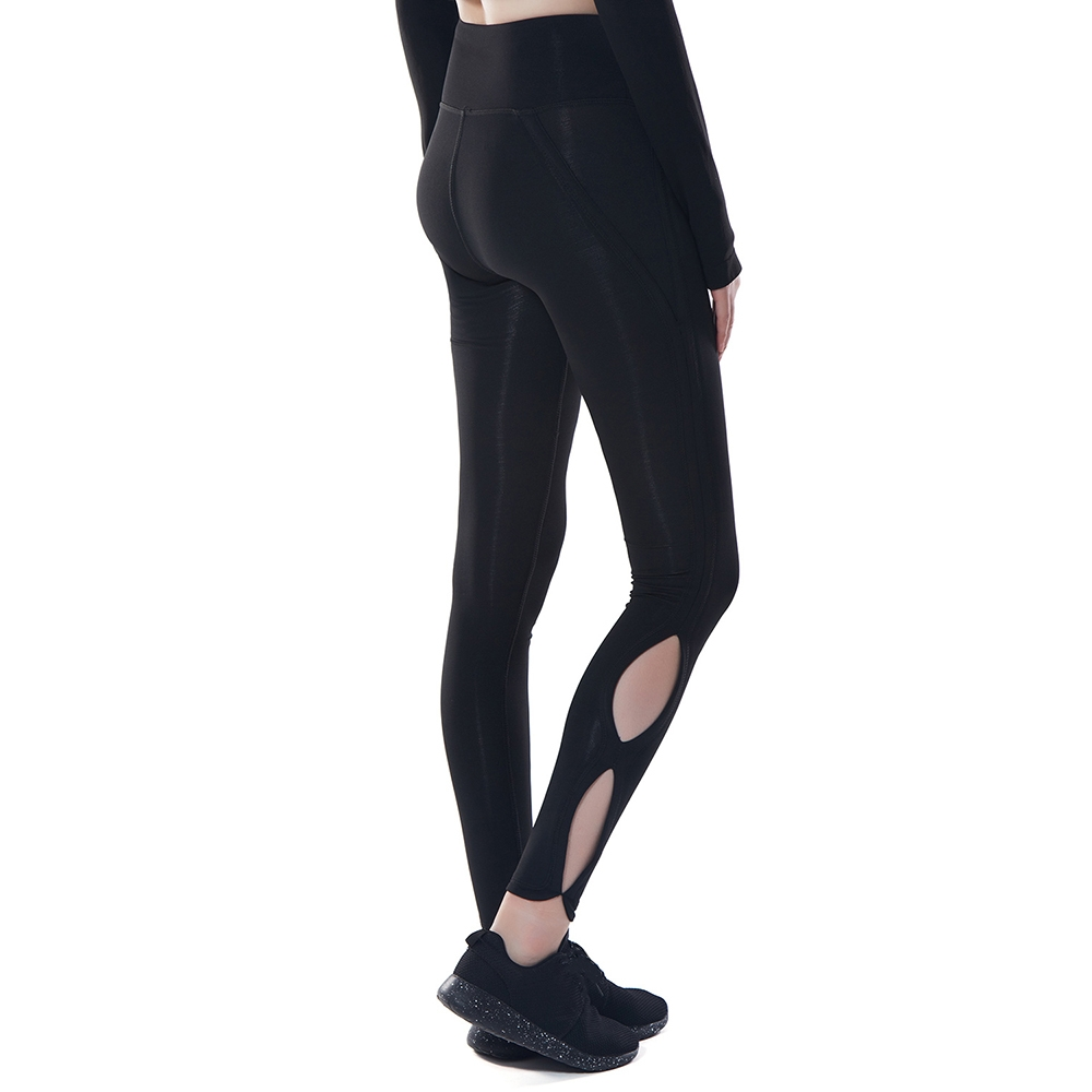 7bb3d90b52cf سعر Fashion High Waisted Leggings For Women Stitching Sheer Color ...
