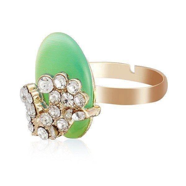 Gold Plated Crystal Opal Rings