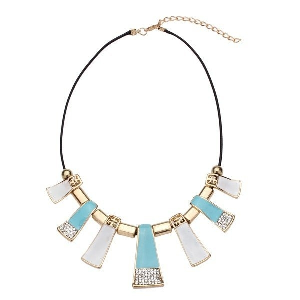 Leather Rope Pendant Statement Necklace