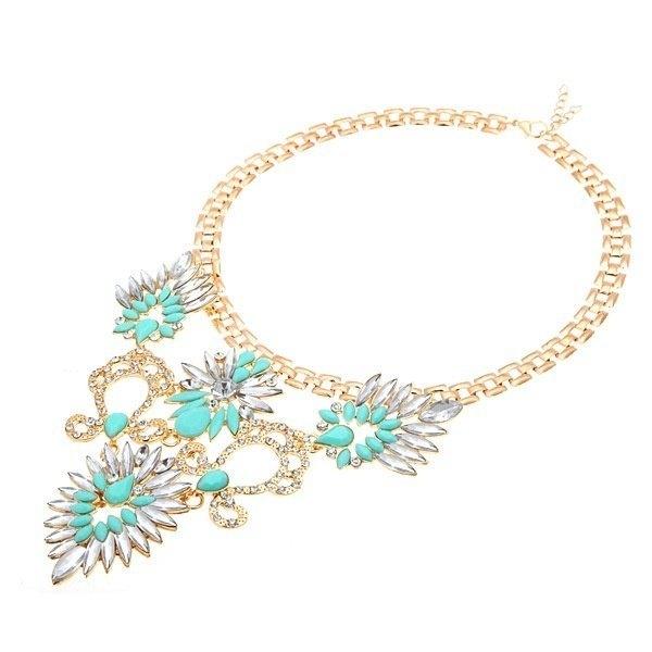 Rhinestone Marquise Pendant Choker Necklace
