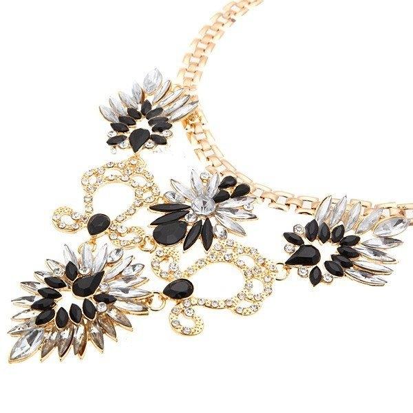Crystal Acrylic Flower Necklace