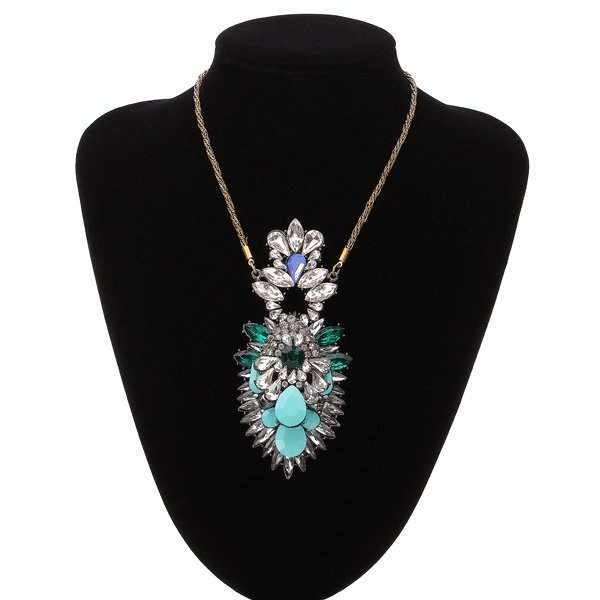 Resin Crystal Statement Necklace