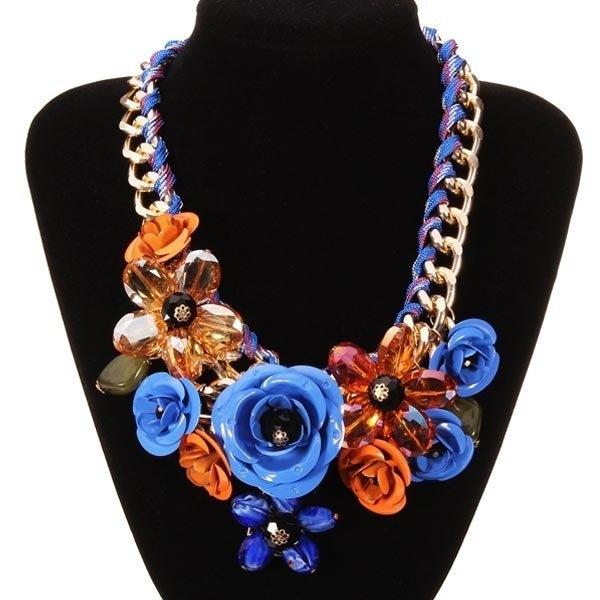 Flower Statement Choker Necklace