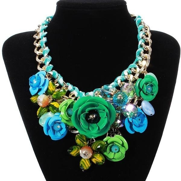 Flower Statement Choker Necklace