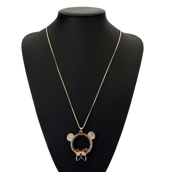 Austria Crystal Bear Necklace