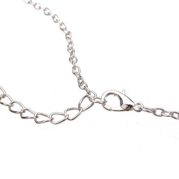 Vintage Glass Cabochon Pendant Necklace