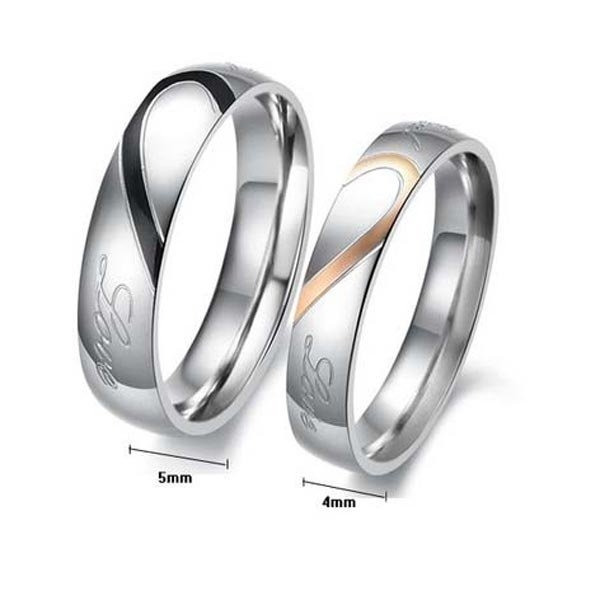 heart couple rings