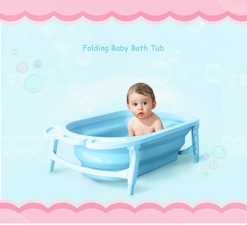 Fashion Portable Folding Children Baby Bathtub Bath Bucket | Babies ...