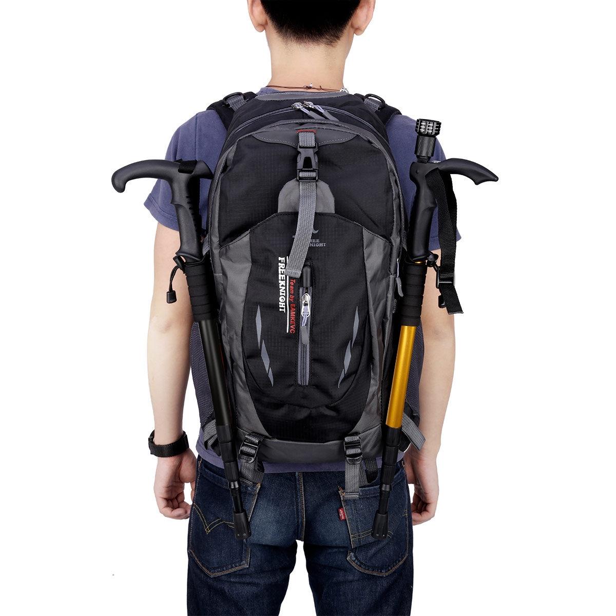 1537eb0dd44b Free Knight Free Knight 005 Outdoor Sports Backpack Hiking Camping  Waterproof Nylon Bag 40L(Black)