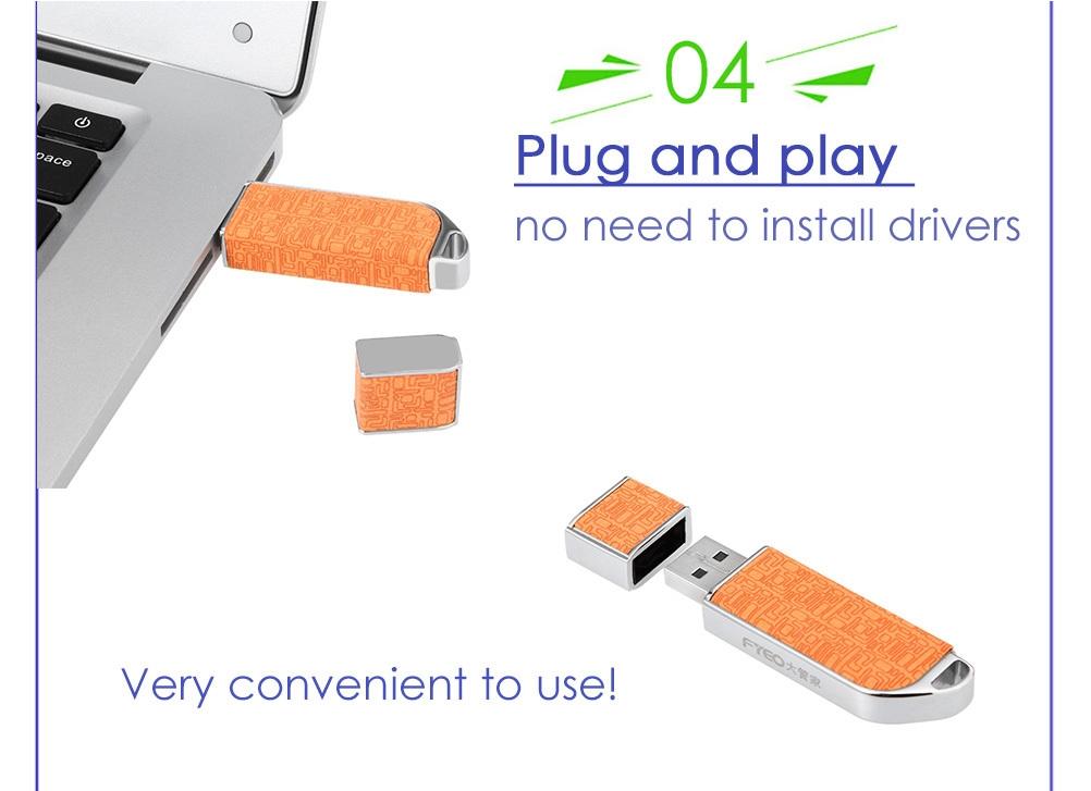 FYEO CR - FPD / 232 Anti-copy USB 2.0 Flash Drive Storage Thumb