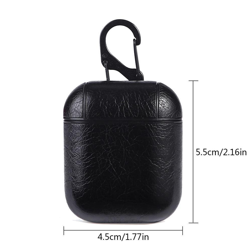 616cae52d120 Order Airpods Leather Case, Portable Shockproof Protective Cover ...