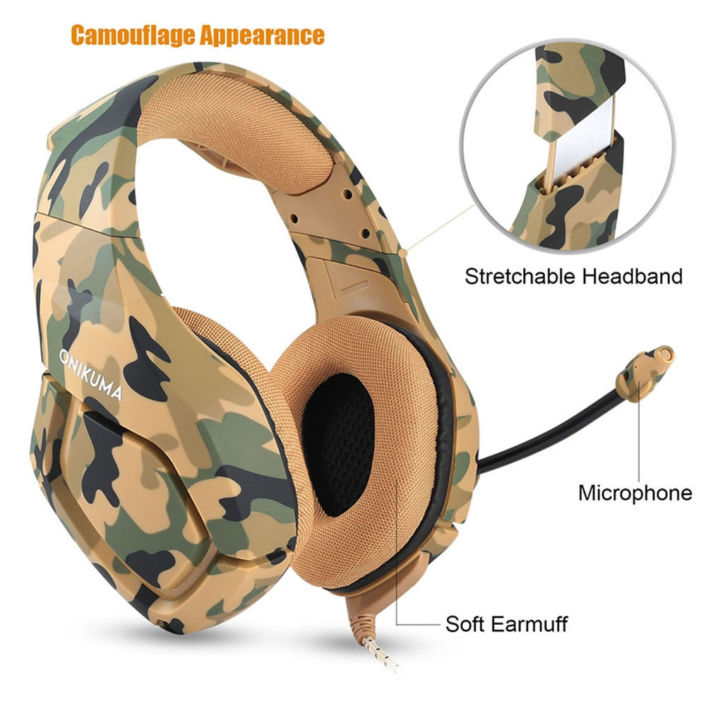 ONIKUMA K1 Casque  PS4 Headset with Microphone Stereo Gaming Headphones for Cell Phone New Xbox One Laptop PC (9)