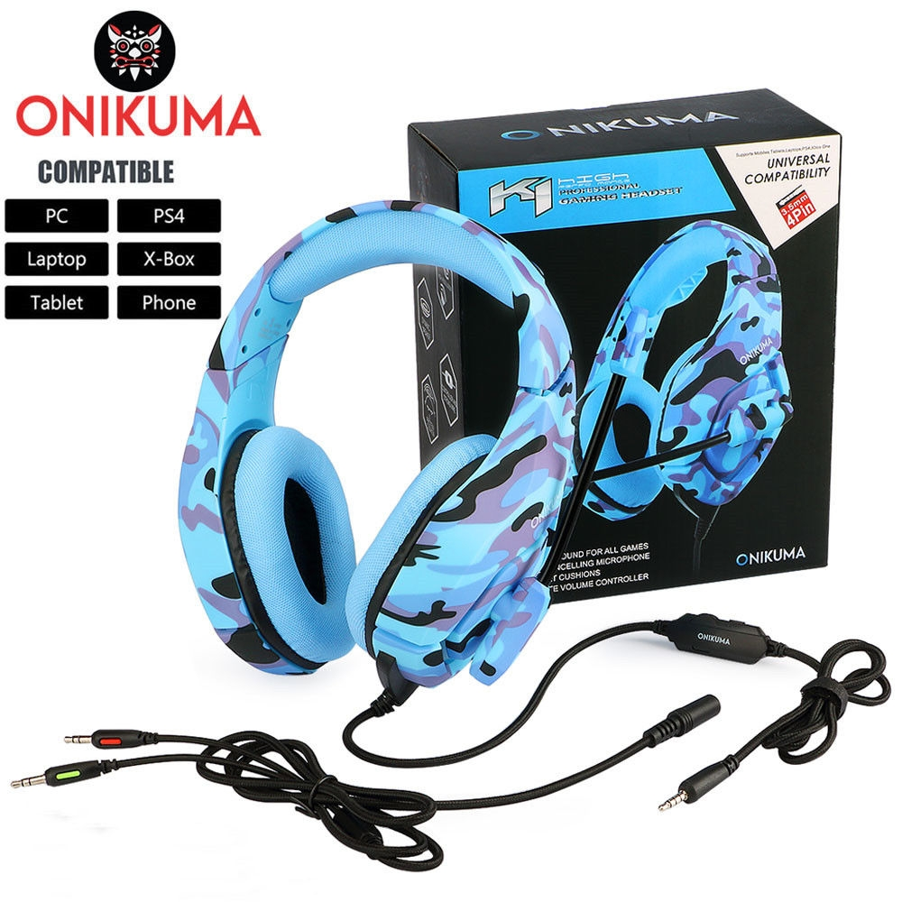 ONIKUMA K1 PS4 Gaming Headset casque Wired PC Stereo Earphones Headphones with Microphone for New Xbox OneLaptop Tablet Gamer (1)