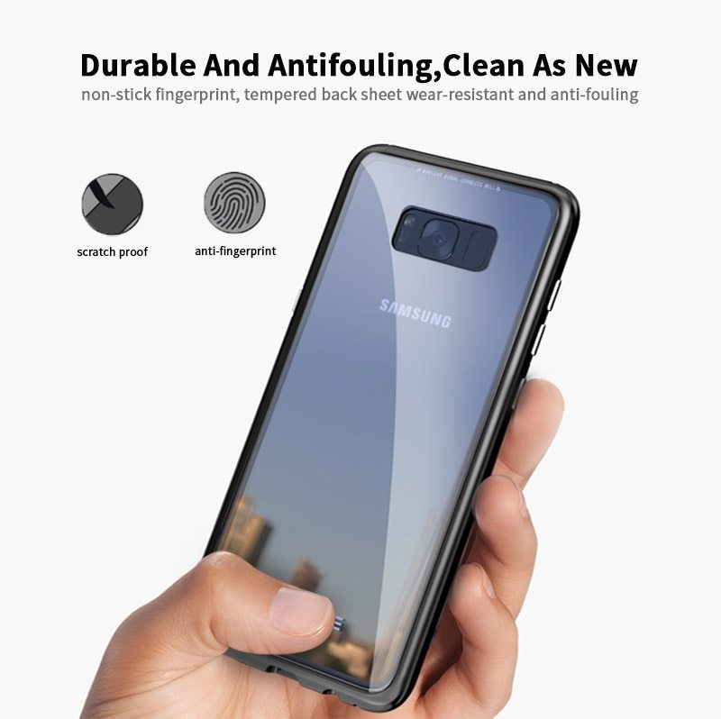 LUPHIE Magnetic Adsorption Case For Samsung Galaxy S9 S8 Plus Magnet Case Metal Bumper (15)