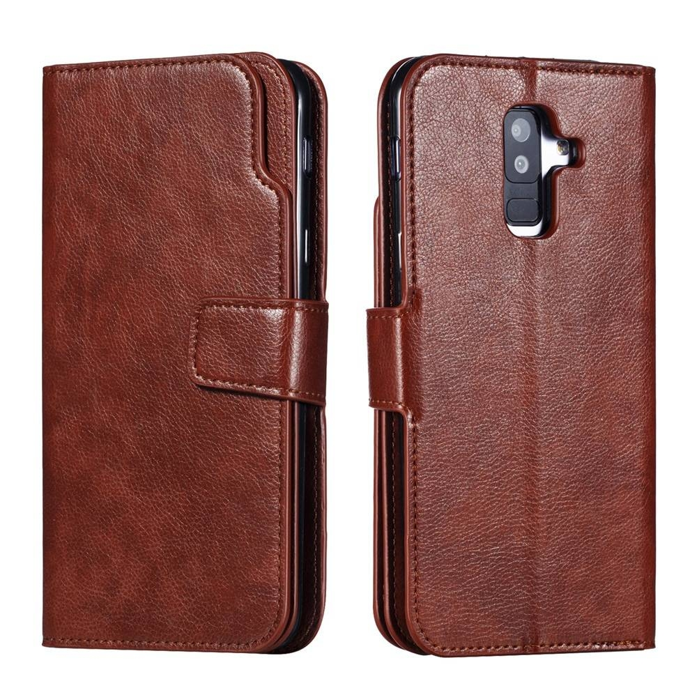 Leather case For Samsung Galaxy A6 A8 Plus A7 2018 Case Cover Wallet card holder Magnet Flip Phone cases on For Samsung Galaxy J4 J6 Plus Case Cover05