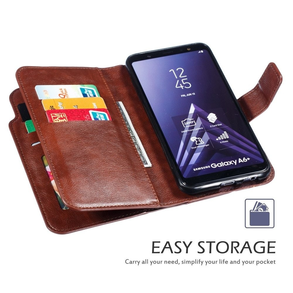 Leather case For Samsung Galaxy A6 A8 Plus A7 2018 Case Cover Wallet card holder Magnet Flip Phone cases on For Samsung Galaxy J4 J6 Plus Case Cover41