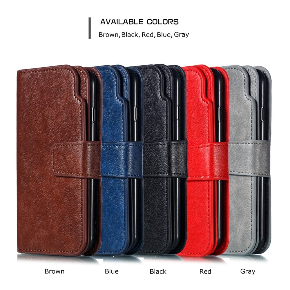 Leather case For Samsung Galaxy A6 A8 Plus A7 2018 Case Cover Wallet card holder Magnet Flip Phone cases on For Samsung Galaxy J4 J6 Plus Case Cover56