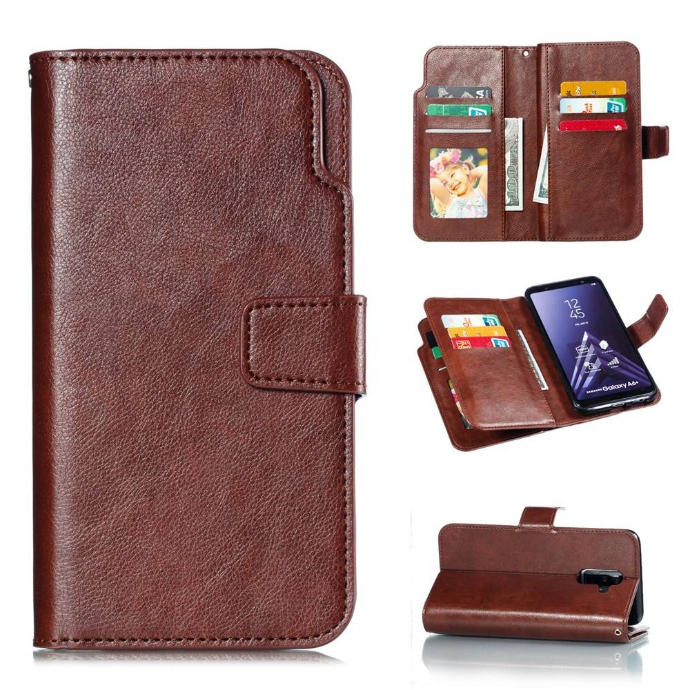 Leather case For Samsung Galaxy A6 A8 Plus A7 2018 Case Cover Wallet card holder Magnet Flip Phone cases on For Samsung Galaxy J4 J6 Plus Case Cover10