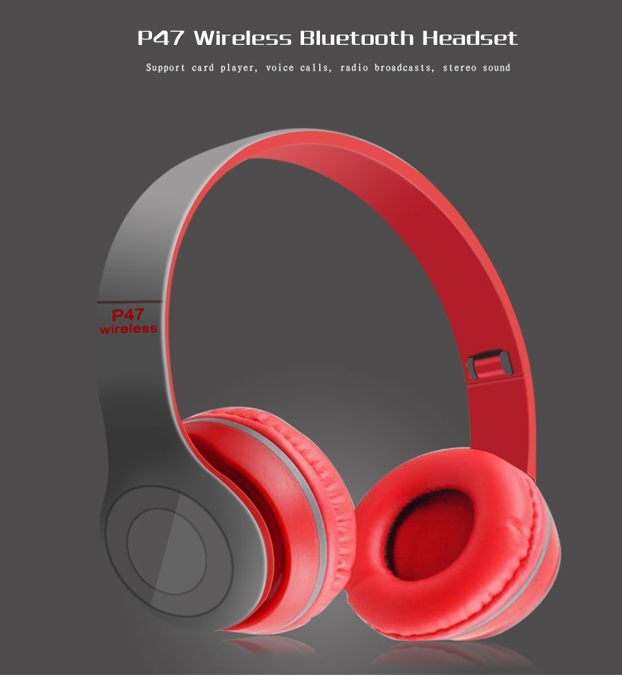 Generic P47 Overhead Wireless Bluetooth Earphone Dre Headset Earpods Headphone Beats New V41 Headphones Foldable Stereo With Microphone For Cell Phones Iphone 7 7plus 6s 6 Plus 5s 5c 5 4s 4 Ipod Touch Ipad Air
