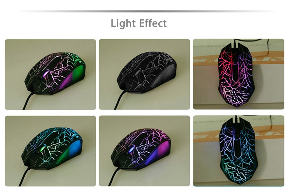 BM007 USB Wired Optical Gaming Mouse Game Mice