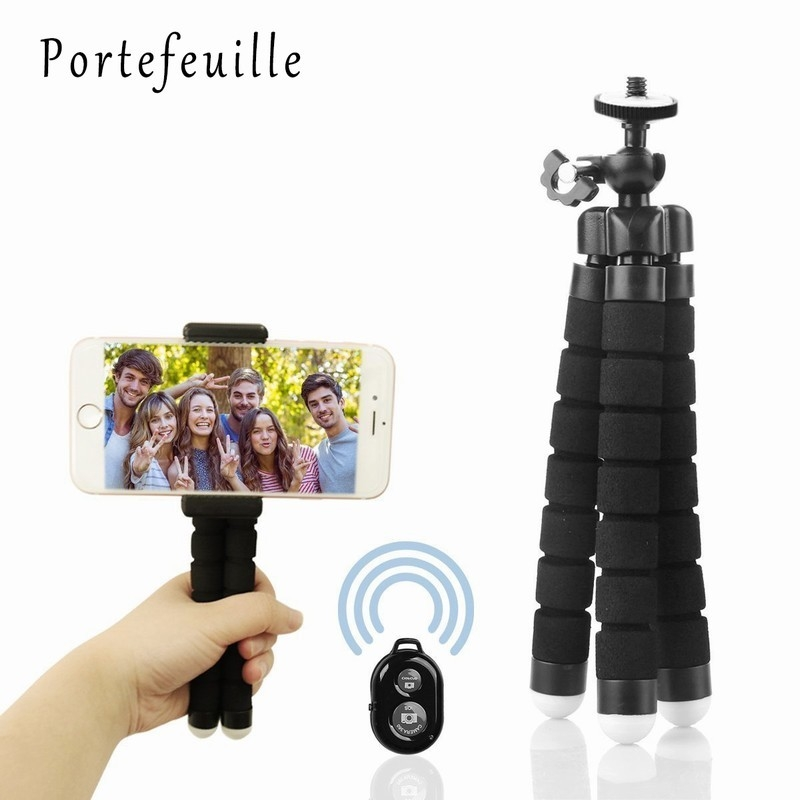 Portefeuille Tripod For Phone iPhone 7 Plus Samsung S8 S7 Edge Flexible Octopus Camera Holder Stand Smartphone Mount Accessories (5)