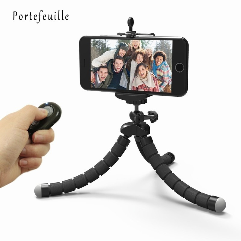 Portefeuille Tripod For Phone iPhone 7 Plus Samsung S8 S7 Edge Flexible Octopus Camera Holder Stand Smartphone Mount Accessories (4)
