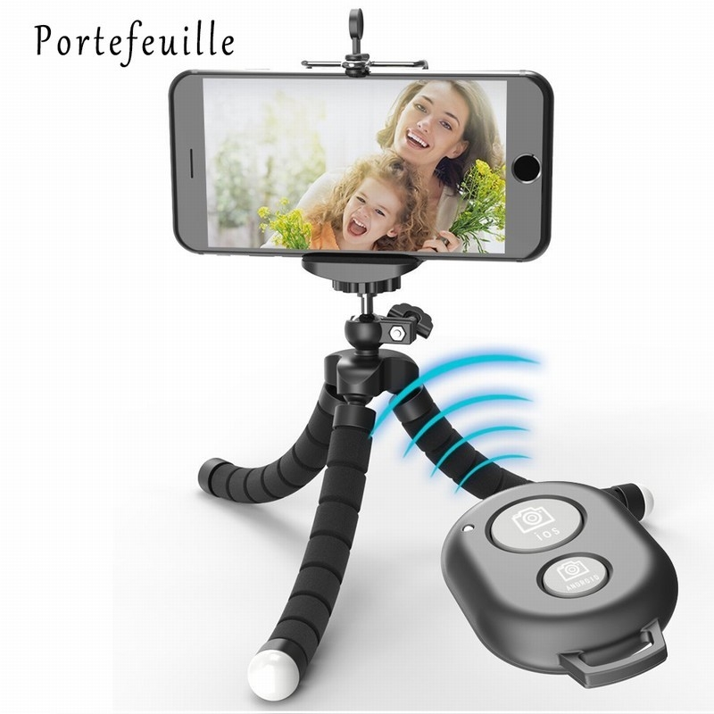 Portefeuille Tripod For Phone iPhone 7 Plus Samsung S8 S7 Edge Flexible Octopus Camera Holder Stand Smartphone Mount Accessories (1)
