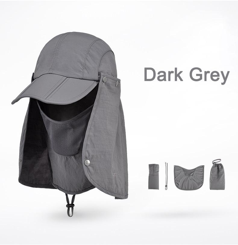 Outdoor Brand Fishing Hiking Bucket Hats For Men Women Removable Foldable Portable Waterproof Bucket Hat 19