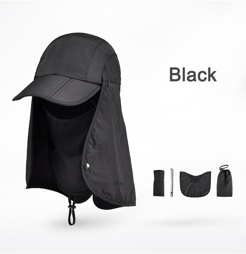 Outdoor Brand Fishing Hiking Bucket Hats For Men Women Removable Foldable Portable Waterproof Bucket Hat 20