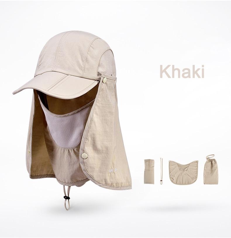 Outdoor Brand Fishing Hiking Bucket Hats For Men Women Removable Foldable Portable Waterproof Bucket Hat 16