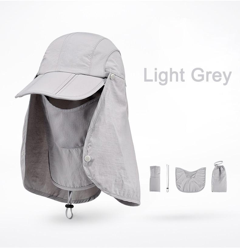 Outdoor Brand Fishing Hiking Bucket Hats For Men Women Removable Foldable Portable Waterproof Bucket Hat 18