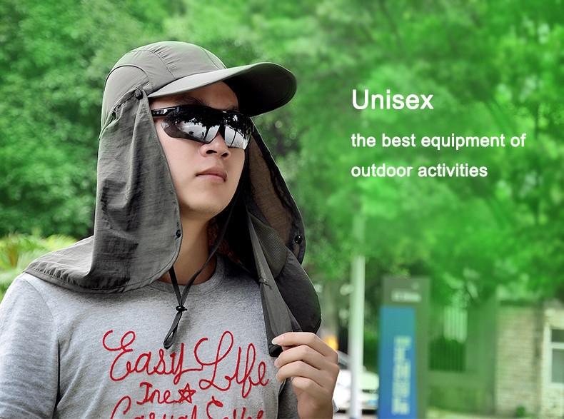 Outdoor Brand Fishing Hiking Bucket Hats For Men Women Removable Foldable Portable Waterproof Bucket Hat 6