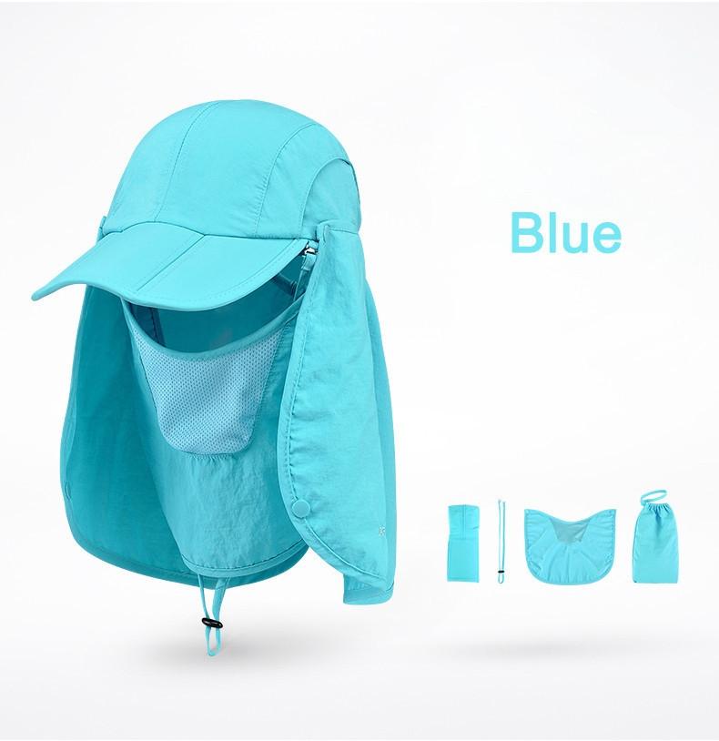 Outdoor Brand Fishing Hiking Bucket Hats For Men Women Removable Foldable Portable Waterproof Bucket Hat 15