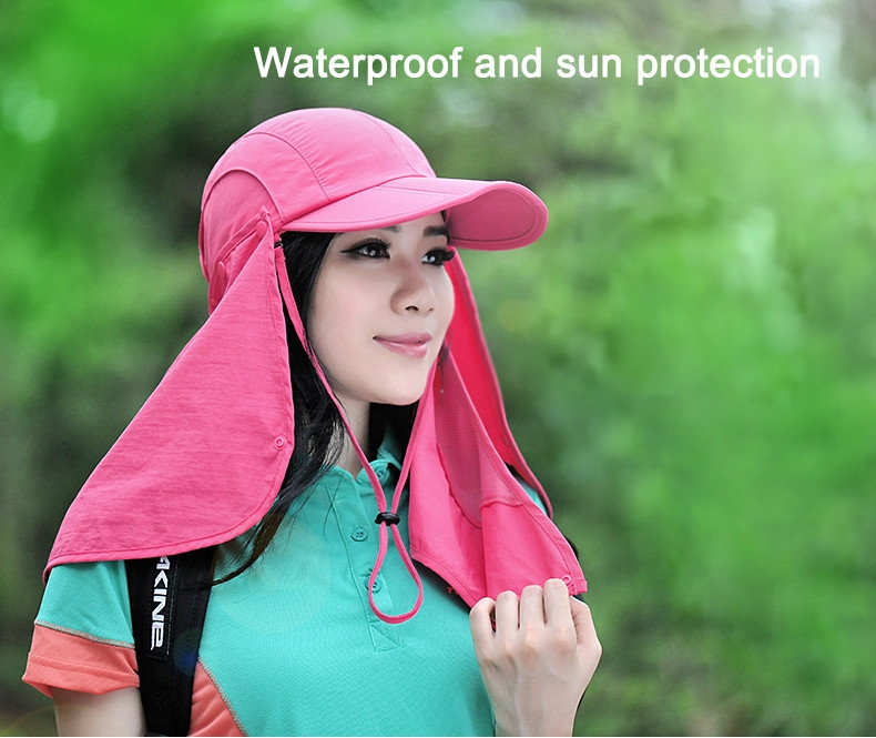 Outdoor Brand Fishing Hiking Bucket Hats For Men Women Removable Foldable Portable Waterproof Bucket Hat 3