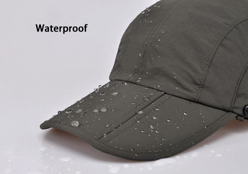 Outdoor Brand Fishing Hiking Bucket Hats For Men Women Removable Foldable Portable Waterproof Bucket Hat 12