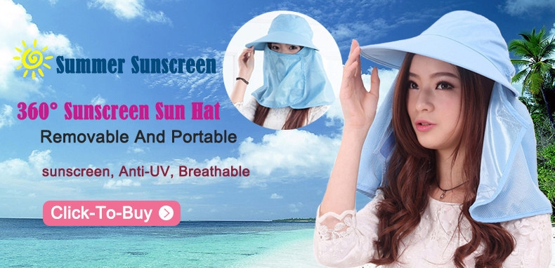 2015 New Arrival Outdoor Wide Brim Summer Detachable Sun Hat For Women Face Neck Cover Flap Visor UV Caps Free Shipping 5Colors