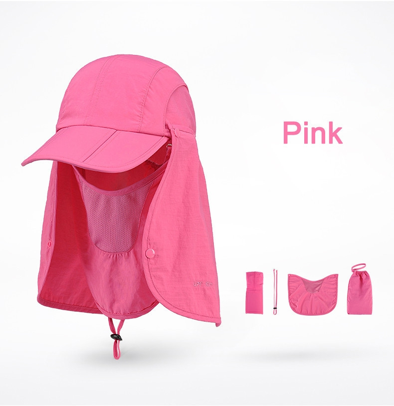 Outdoor Brand Fishing Hiking Bucket Hats For Men Women Removable Foldable Portable Waterproof Bucket Hat 14