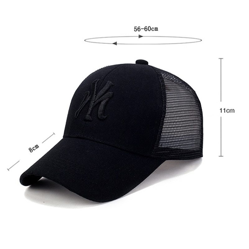 Spring Summer Unisex Baseball Caps Letter Mesh Cap Fashion Solid Embroidery Adjustable Hat Women Men Cotton Casual Hats CP0113 (8)