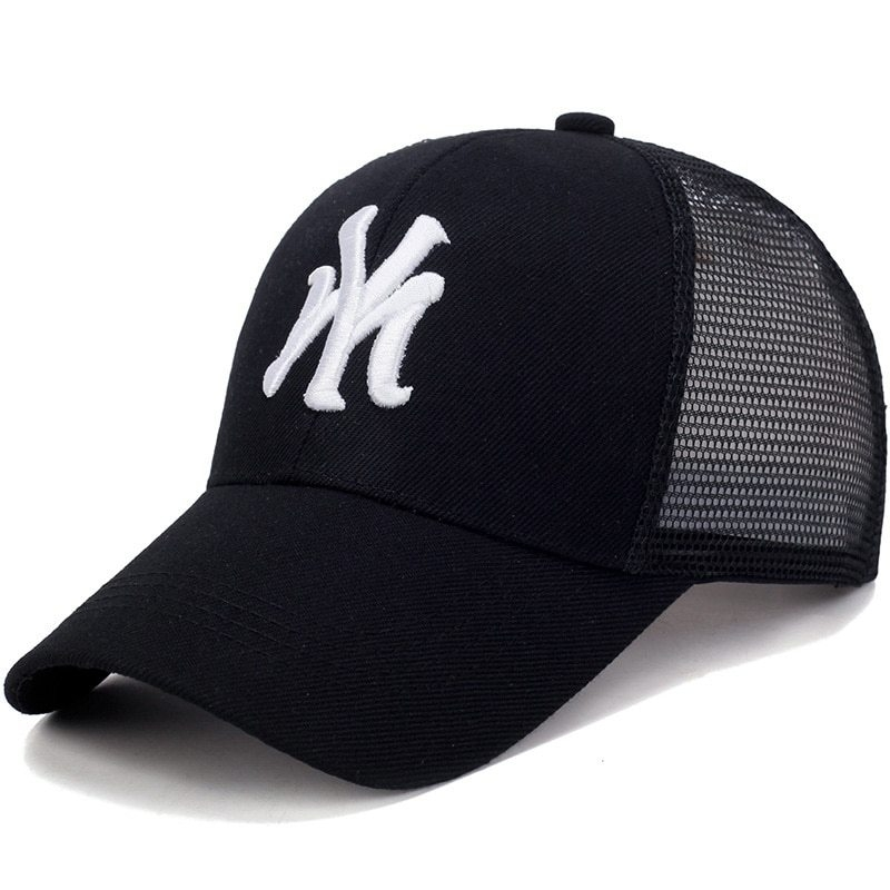 Spring Summer Unisex Baseball Caps Letter Mesh Cap Fashion Solid Embroidery Adjustable Hat Women Men Cotton Casual Hats CP0113 (2)