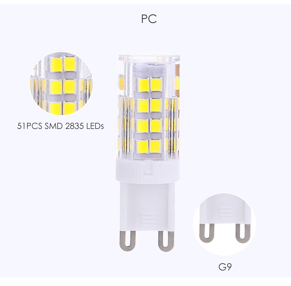 Lightme 10PCS G9 AC 110V 3W SMD 2835 LED Bulb Light Energy Saving Lamp with 51 LEDs