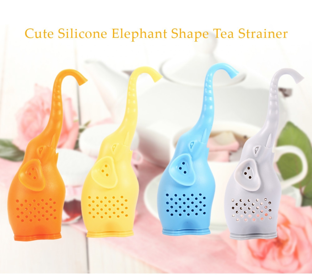 Lovely Novelty Silicone Elephant Shape Mesh Tea Infuser Strainer Filter