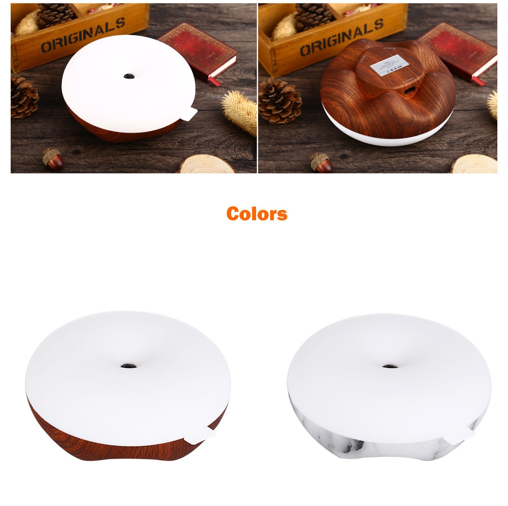 DC 5V LED Body Induction Night Light Round Dimming Bedside Lamp
