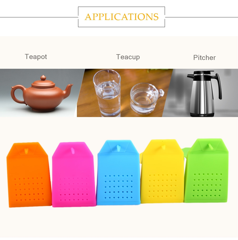 Lovely Novelty Silicone Bag Shape Mesh Tea Infuser Reusable Strainer Filter