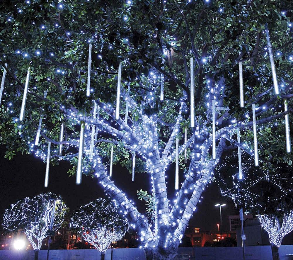 20CM LED Meteor Shower String Light Waterproof Rain Tube Hanging Light for Decoration