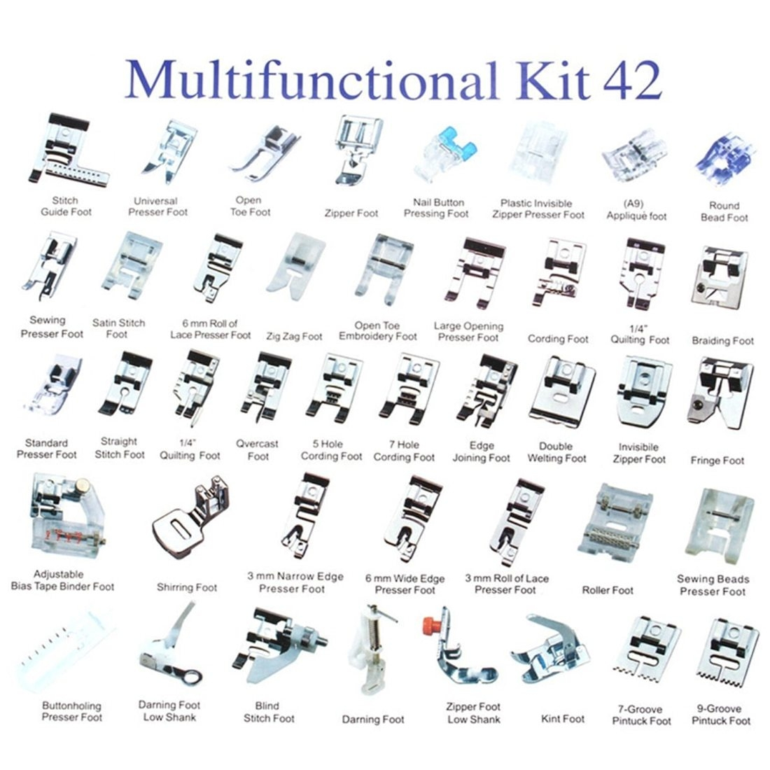 UNIVERSAL GENERIC DOMESTIC SEWING MACHINE APPLIQUE FOOT
