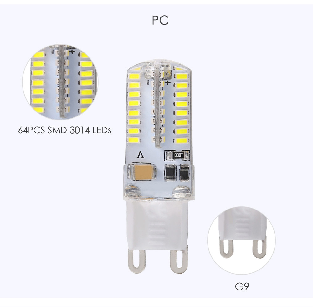 Lightme 4PCS G9 AC 110V 3W SMD 3014 LED Bulb Light Energy Saving Lamp with 64 LEDs