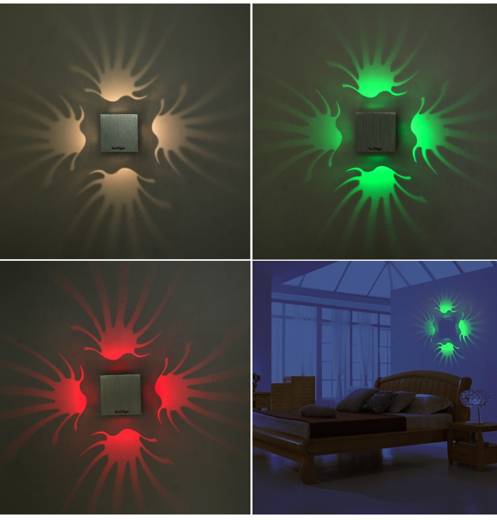 YouOKLight YK2236 1W 80LM Pteris LED Wall Lamp Bedroom Decorate Night Light