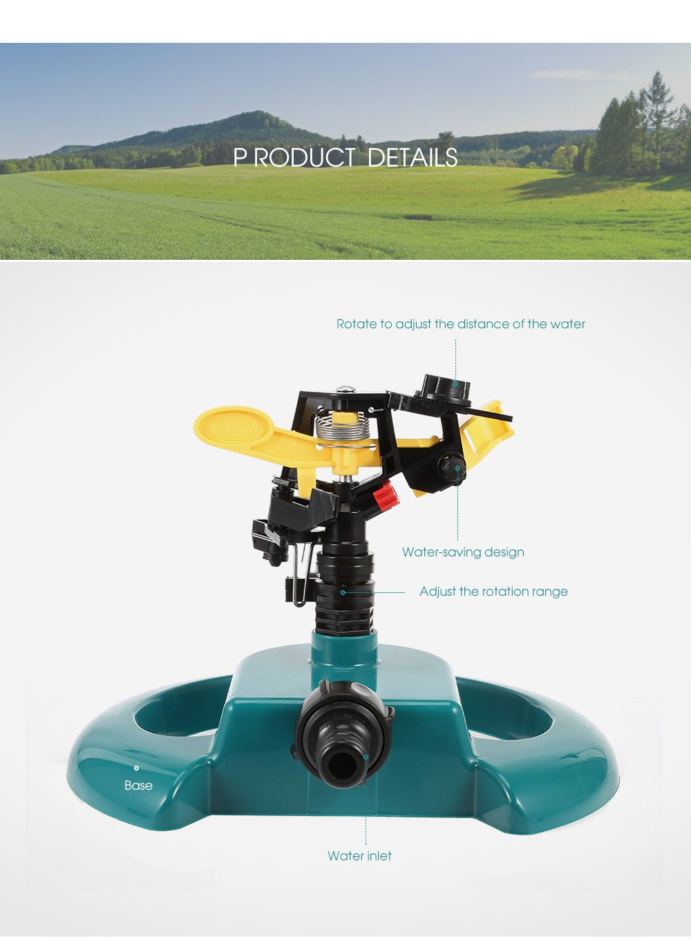360 Degree Rotating Water Sprayer for Fishpond Garden