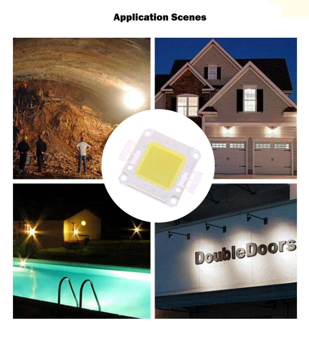 AC 85 - 265V 50W 8000LM LED SMD Chip Bulb Bead with Waterproof Driver Supply